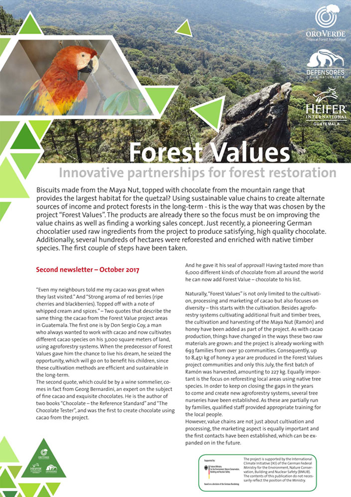 OroVerde-Project Forest Values-Newsletter2
